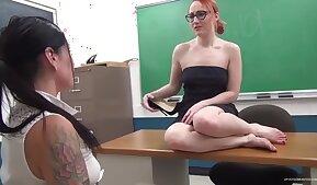 Lesbian teacher feet worship mistress crystal