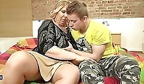 Chubby mature mommy shows off her big cocks